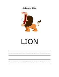 Animals: Lion Worksheet