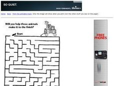 Animals Maze Worksheet