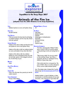 Animals of the Fire Ice Lesson Plan