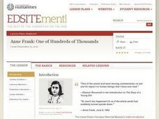 Anne Frank: One of Hundreds of Thousands Lesson Plan