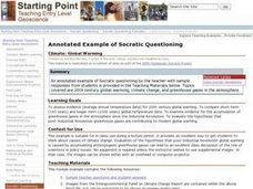 Annotated Example of Socratic Questioning: Climate: Global Warming Lesson Plan