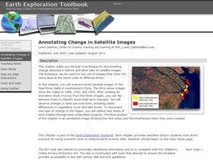 Annotating Change in Satellite Images Lesson Plan