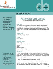 Anonymous Card Delivery Lesson Plan