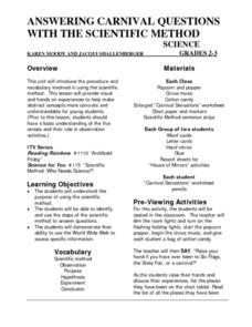 scientific method activity for 5th grade designing experiments using the scientific method key. Black Bedroom Furniture Sets. Home Design Ideas