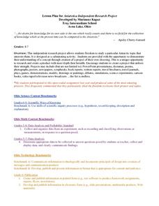 Antarctica Independent Research Project Lesson Plan
