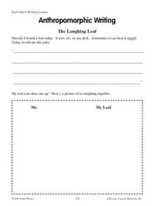 Anthropomorphic Writing Worksheet