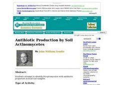 Antibiotic Production by Soil Actinomycetes Lesson Plan