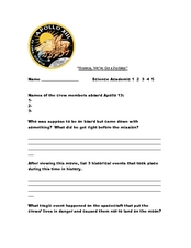 13 questions in this apollo 13 worksheet students watch the movie ...
