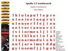 Apollo 13 wordsearch Worksheet