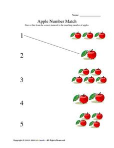 Apple Number Match Lesson Plan