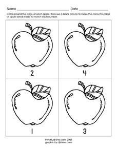 Apple Seeds 2 Worksheet