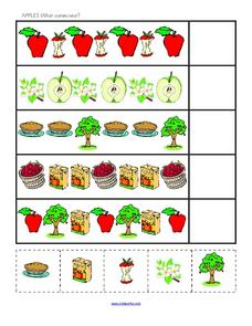 Apples: What Comes Next? Worksheet