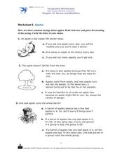 Apples Worksheet