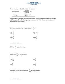 Application Problems with Fractions Lesson Plan