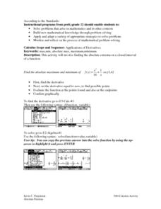 Applications of Derivatives Lesson Plan