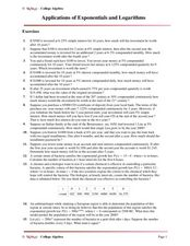 Applications of Exponentials and Logarithms Worksheet