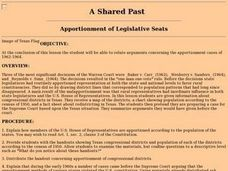 Appointment of Legislative Seats Lesson Plan
