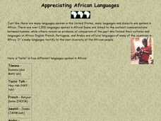 Appreciating African Languages Lesson Plan