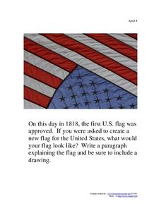 April 4, 1818 - U.S. Flag Worksheet