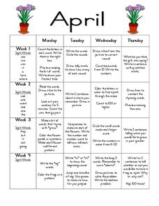 April Daily Resources Lesson Plan