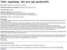 Aqualung , the New Age Garden Lesson Plan