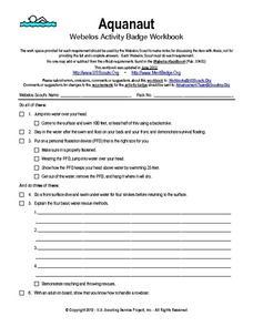 Webelos Athlete Worksheet - Worksheets