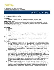 Aquatic Roots Lesson Plan