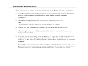 parallel structure worksheet - Boras.winkd.co