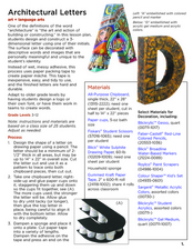 Architectural Letters Lesson Plan