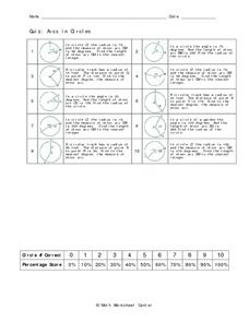 Arcs in Circles Worksheet
