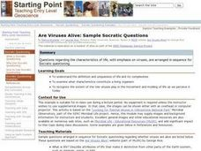 Are Viruses Alive: Sample Socratic Questions Lesson Plan