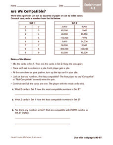 Are We Compatible? Enrichment Worksheet