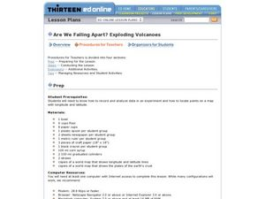 Are We Falling Apart? Exploding Volcanoes Lesson Plan