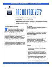 Are We Free Yet? Lesson Plan
