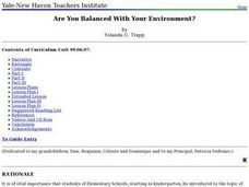 Are You Balanced With Your Environment? Lesson Plan
