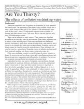 Are You Thirsty? The Effects of Pollution on Drinking Water Lesson Plan