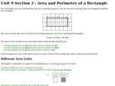 Area and Perimeter of a Rectangle Worksheet