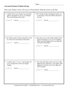 Area and Perimeter Problem Solving Lesson Plan