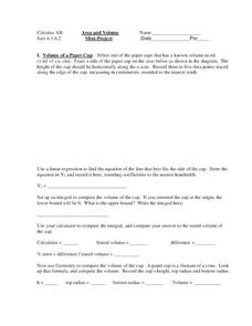 Area and Volume Worksheet