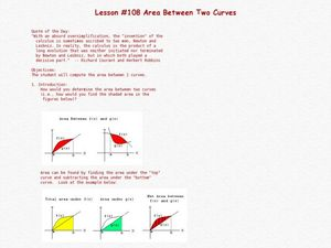 Area Between Two Curves Lesson Plan
