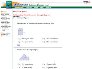 Area of Complex Figures Worksheet