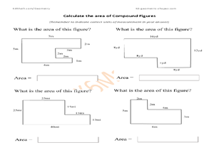 Worksheet Area Of Composite Figures Worksheet area of compound figures 7th 9th grade worksheet lesson planet worksheet