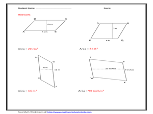 Printables Area Of Parallelogram Worksheet area of parallelogram worksheet figure version 6th 8th grade worksheet