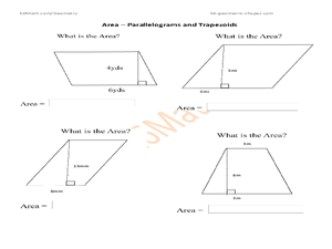 Printables Area Of A Trapezoid Worksheet area parallelograms and trapezoids 4th 6th grade worksheet worksheet