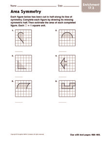 Area Symmetry: Enrichment Worksheet