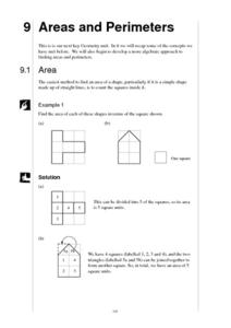 Areas and Perimeters Worksheet