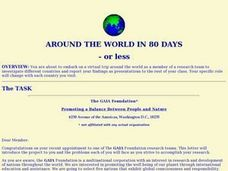 AROUND THE WORLD IN 80 DAYS OR LESS Lesson Plan