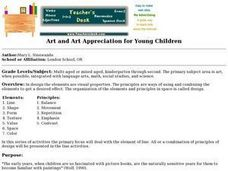 Art and Art Appreciation for Young Children Lesson Plan
