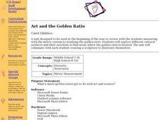 Art and the Golden Ration Lesson Plan