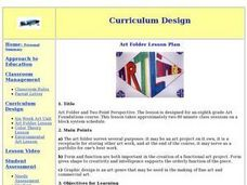 Art Folder and Two Point Perspective Lesson Plan